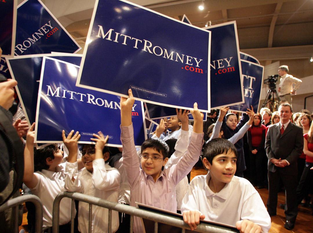 governor mitt romneys run for presidency 31052012 president obama's campaign knocks mitt romney's record as massachusetts governor in boisterous rally at state house.